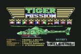 Tiger Mission Loading Screen For The Commodore 64/128
