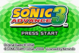 2 Games in 1: Sonic Advance + Sonic Battle (ROM Cart) For The Game Boy Advance