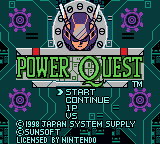Power Quest Loading Screen For The Game Boy Color