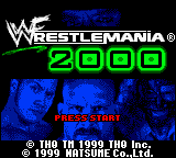 WWF Wrestlemania 2000 Loading Screen For The Game Boy Color