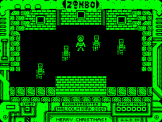Zombo's Christmas Capers Screenshot 1 (Acorn Atom)