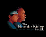The Karate Kid Part 2 Loading Screen For The Amiga 500