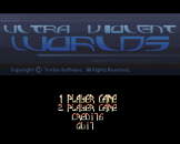 Ultra Violent Worlds Loading Screen For The Amiga 500