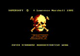 Interdictor Pilot Loading Screen For The Amstrad CPC464