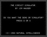 The Circuit Simulator Screenshot 0 (Apple II)