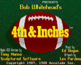 4th & Inches Loading Screen For The Apple IIGS