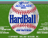 HardBall! Loading Screen For The Apple IIGS