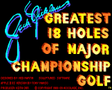 Jack Nicklaus Greatest 18 Holes of Major Championship Golf Loading Screen For The Apple IIGS