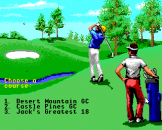 Jack Nicklaus Greatest 18 Holes of Major Championship Golf Screenshot 1 (Apple IIGS)