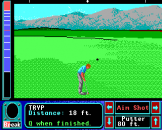 Jack Nicklaus Greatest 18 Holes of Major Championship Golf Screenshot 2 (Apple IIGS)