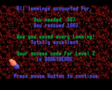 Oh No More Lemmings Screenshot 3 (Archimedes A3000)