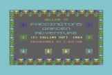 Paddington's Garden Game (Cassette) For The Commodore 64