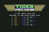 Tiger Mission Screenshot 1 (Commodore 64/128)