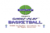 "Omni-Play Basketball (5.25"" Disc) For The Commodore 64"