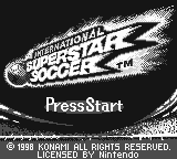 International Superstar Soccer Loading Screen For The Game Boy