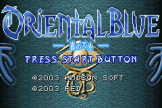 Oriental Blue: Ao no Tengai Loading Screen For The Game Boy Advance