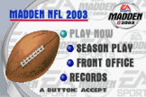 Madden NFL 2003 Screenshot 1 (Game Boy Advance)