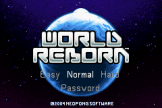 World Reborn Loading Screen For The Game Boy Advance