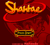 Shantae Loading Screen For The Game Boy Color