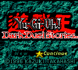 Yu-Gi-Oh! Dark Duel Stories Loading Screen For The Game Boy Color