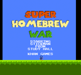 Super Homebrew War Loading Screen For The Nintendo (US Version)