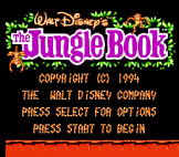 The Jungle Book Loading Screen For The Nintendo (US Version)