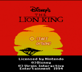 The Lion King Loading Screen For The Nintendo (US Version)
