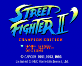 Street Fighter II': Champion Edition Loading Screen For The PC Engine (JP Version)