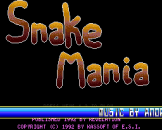Snake Mania Loading Screen For The Sam Coupe