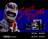 Super Racing Loading Screen For The Sega Master System (JP Version)