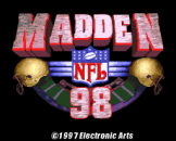 Madden NFL 98 Loading Screen For The Super Nintendo (US Version)