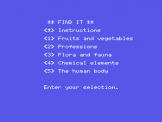 Find It Screenshot 1 (Spectravideo 318)