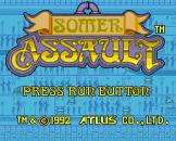 Somer Assault Loading Screen For The PC Engine (EU Version)/TurboGrafix-16 (US Version)