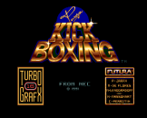 Andre Panza Kick Boxing Loading Screen For The PC Engine (EU Version)/TurboGrafix-16 (US Version)