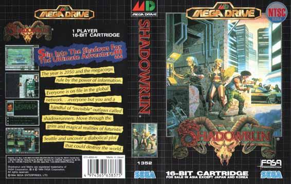 Shadowrun (Sega Mega Drive (JP Version)) - Everygamegoing com